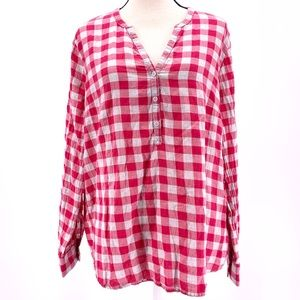Gap plaid tunic top women's size large